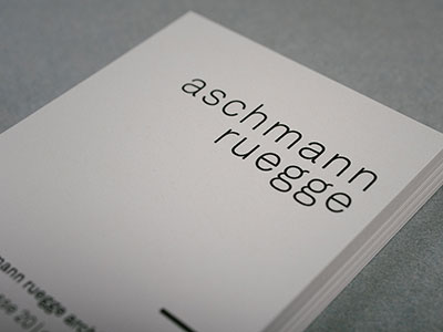 aschmann ruegge architekten glarus corporate design
