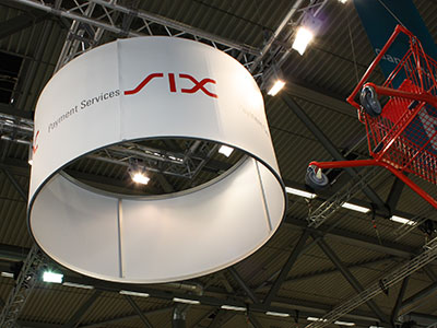 six payment services messestand dmexco standdesign